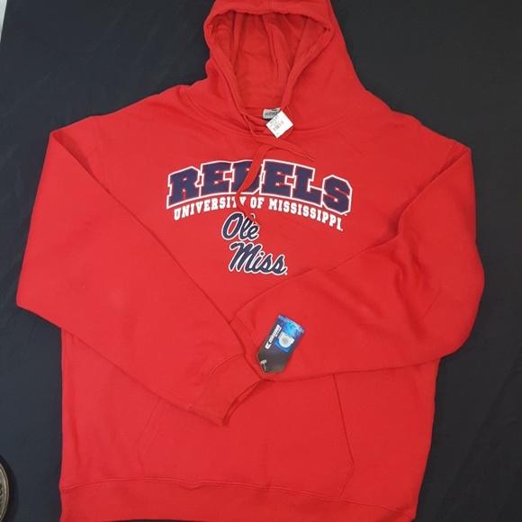 11cb8ac0 Colosseum Shirts | New Ole Miss Rebels Sweatshirt Hoodie 2x Red ...